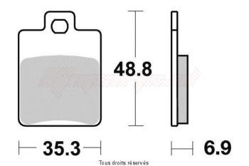 Product image: Vesrah - VD968JL - Brake Pad Vesrah Sinter Metal      VD968JL