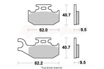 Product image: Vesrah - VD979JL - Brake Pad Vesrah Sinter Metal      VD979JL