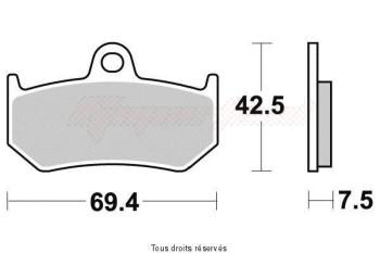 Product image: Vesrah - VD998JL - Brake Pad Vesrah Sinter Metal      VD998JL