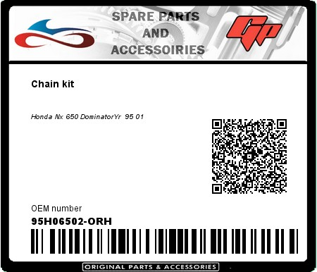 Product image: Kit chain - 95H06502-ORH - Chain kit