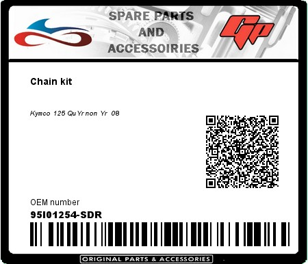 Product image: Kit chain - 95I01254-SDR - Chain kit