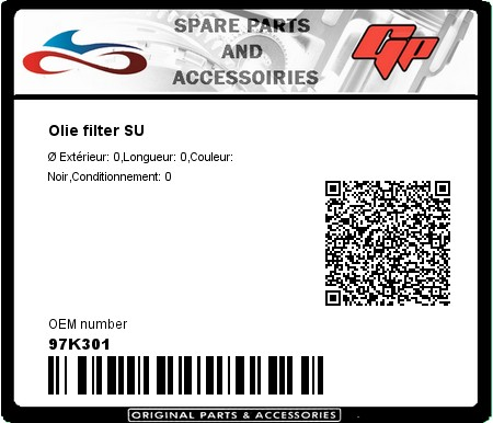 Product image: Champion - 97K301 - Olie filter SU