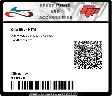 Product image: Champion - 97X320 - Olie filter KTM