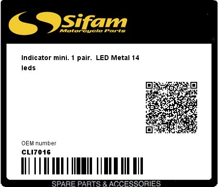 Product image: Sifam - CLI7016 - Indicator mini. 1 pair.  LED Metal 14 leds