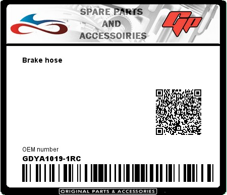 Product image: Goodridge - GDYA1019-1RC - Brake hose