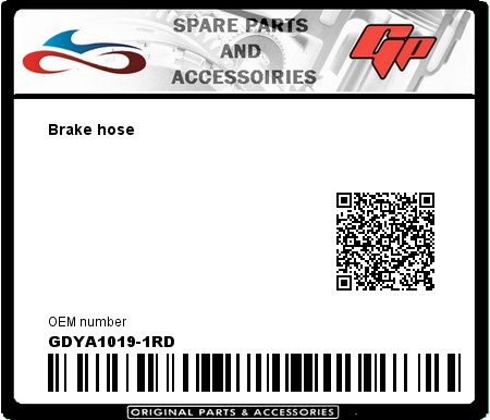 Product image: Goodridge - GDYA1019-1RD - Brake hose