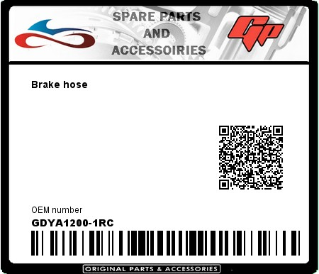Product image: Goodridge - GDYA1200-1RC - Brake hose