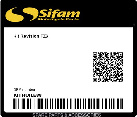 Product image: Sifam - KITHUILE88 - Kit Revision FZ6