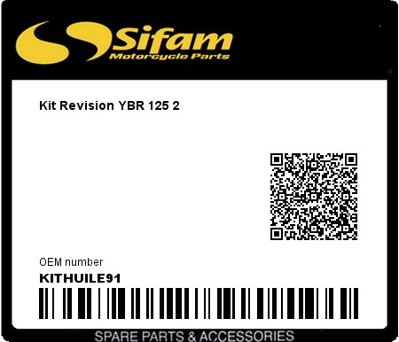 Product image: Sifam - KITHUILE91 - Kit Revision YBR 125 2