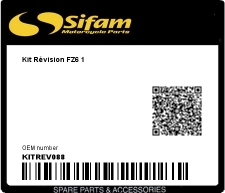 Product image: Sifam - KITREV088 - Kit Révision FZ6 1