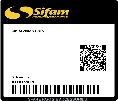Product image: Sifam - KITREV089 - Kit Révision FZ6 2