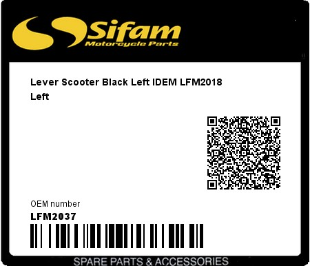 Product image: Sifam - LFM2037 - Lever Scooter Black Left IDEM LFM2018 Left