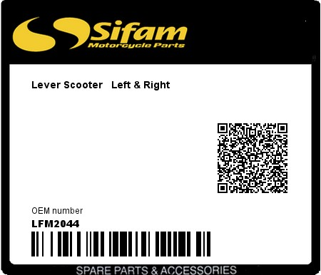 Product image: Sifam - LFM2044 - Lever Scooter   Left & Right
