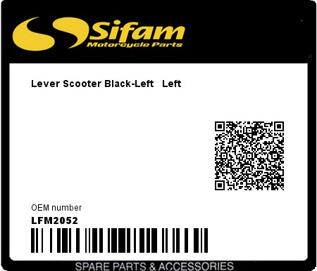Product image: Sifam - LFM2052 - Lever Scooter Black-Left   Left