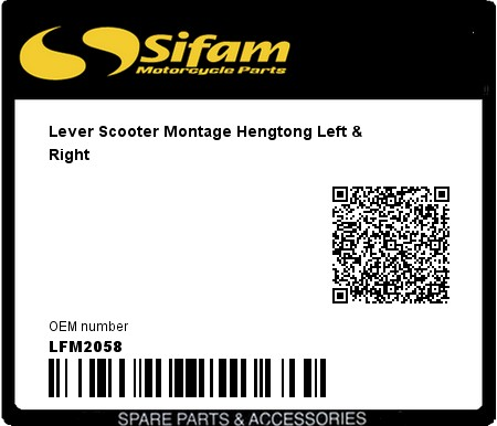 Product image: Sifam - LFM2058 - Lever Scooter Montage Hengtong Left & Right