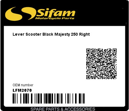 Product image: Sifam - LFM2070 - Lever Scooter Black Majesty 250 Right