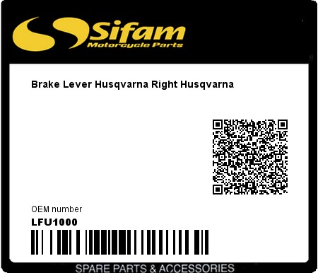 Product image: Sifam - LFU1000 - Brake Lever Husqvarna Right Husqvarna