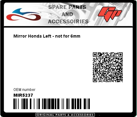 Product image: Far - MIR5237 - Mirror Honda Left - not for 6mm